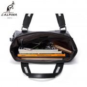 意大利lalpina袋鼠新款男士手提包大容量耐磨防水休閑旅行包