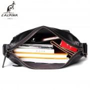 意大利lalpina袋鼠男士真皮斜跨包新款商務防水多功能時尚包包