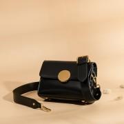 新款女包歐美復古女包時尚牛皮小方包圓扣噴色斜挎包批發3058