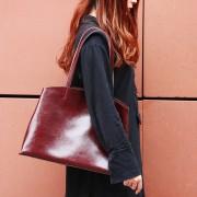 新款歐美風真皮女包單肩包大氣女式手提時尚托特女士包