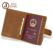 商務時尚真皮護照本 瘋馬皮復古證件包 多功能護照包機票夾 批發