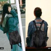 雙肩包女多功能牛皮款時尚真皮背包2用女士個性單肩包包潮