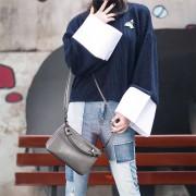 真皮斜挎小包女新款潮時尚百搭多層多拉鏈單肩包女簡約斜跨包