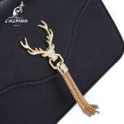 包包女新款潮韓版百搭斜挎包牛皮流蘇鏈條包時尚鹿角單肩包