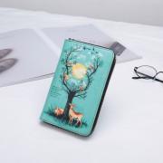 新款印花真皮女式卡通錢包B款,色彩亮麗