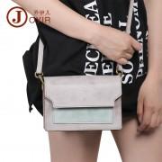 韓版時尚新款真皮女包 單肩包 撞色斜挎包豆腐包 包包女新款