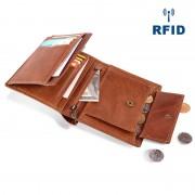 男士錢包 商務復古真皮錢包 多卡位rfid短款手拿包 男包 工廠貨源