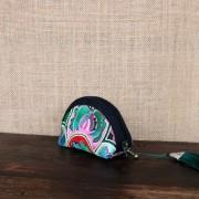 特色繡花小包原創新款汽車家用鑰匙包小飾品收納包零錢布包多功能