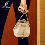 阿爾皮納袋鼠新款女士包包真皮鏈條包斜跨單肩包頭層牛皮女包