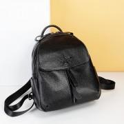 包包新款時尚頭層牛皮雙肩包女五角星真皮休閑旅行背包書包