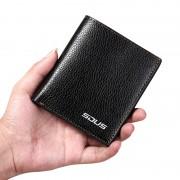 新款錢包短款豎款商務男士錢夾卡包駕駛證皮夾青年