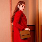 真皮女包新款包包單肩包女式牛皮蛇紋歐美女包鏈條斜挎包小包