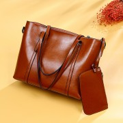 包包女新品歐美時尚真皮女包牛皮單肩手提包大容量女士購物