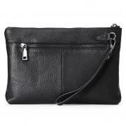 男士真皮手拿包時尚商務頭層牛皮大容量軟休閑手包信封包錢包