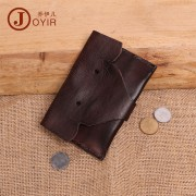 植鞣皮復古手工零錢包 可愛 卡通零錢包 頭層牛皮真皮小錢包 包