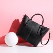 女包新款水桶包真皮撞色時尚頭層牛皮桶包休閑百搭單肩斜挎包