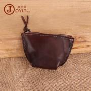 零錢包 復古時尚真皮錢包 植鞣皮多功能收納包 硬幣包 可愛小錢包