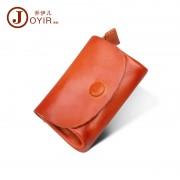 喬伊兒真皮錢包 零錢包 鑰匙包 植鞣皮復古硬幣收納包 可愛小錢包