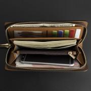 皇家阿瑪尼男士真皮錢包皮夾休閑拉鏈男包大容量牛皮手抓包長款手拿包