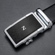 CK男士 H Z G字母扣頭皮帶真皮頭層牛皮自動扣品牌高檔加長褲腰帶