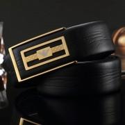 皇家阿瑪尼高檔男士品牌真皮皮帶雙面頭層牛皮腰帶不銹鋼平滑扣頭