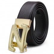 皇家阿瑪尼男士真皮褲腰帶純頭層牛皮創意款字母品牌 自動扣皮帶