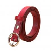 新款韓版時尚裝飾腰帶女士復古圓環針扣皮帶真皮頭層牛皮皮帶