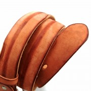 新款歐美復古皮帶定制男士真皮個性針扣腰帶頭層牛皮批發