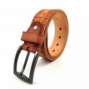 新款時尚歐美做舊真皮男士腰帶批發頭層牛皮批發復古針扣皮帶