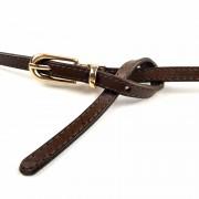 韓版新款糖果色針扣腰帶女士真皮頭層牛皮裝飾細皮帶