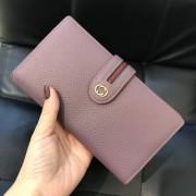 新款女士錢包女長款真皮搭扣薄款皮夾子手拿包女式皮夾錢包