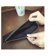新款真皮韓版長款女錢包時尚軟皮錢夾 簡約超薄款多卡位牛皮手包