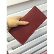 新品歐美簡約牛皮錢夾 女士長款橫款錢包手包皮夾多卡位手包