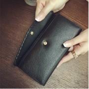 新款女士真皮3折錢包女長款韓版錢夾頭層牛皮女式手拿包皮夾