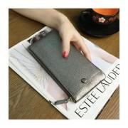 日韓男女士長款錢包真皮青年牛皮手包拉鏈手機包超薄軟皮錢夾皮夾