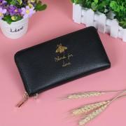 新款韓版頭層牛皮真皮長款女士錢包軟皮蜜蜂時尚簡約錢夾拉鏈
