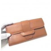歐美時尚荔枝紋頭層牛皮長款女士錢包皮夾女真皮大容量手拿包