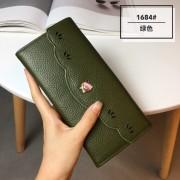 韓版頭層牛皮錢包女 長款真皮女款手包新款牛皮女錢包時尚2折皮夾