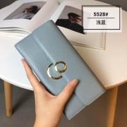 韓版新款錢包女士皮夾長款真皮搭扣錢夾頭層荔枝紋牛皮夾