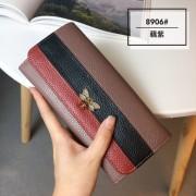 新款錢包女長款真皮歐美小蜜蜂大容量多功能韓版潮撞色手機夾