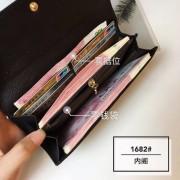 韓版風范皮夾新款頭層牛皮女錢包時尚百搭真皮長款兩折皮夾女