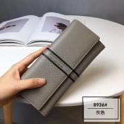 韓版女士錢包女長款新款真皮多功能手拿錢夾兩折皮夾多卡位薄
