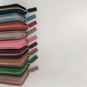 休閑軟皮一折琴風包進口頭層牛皮卡包 卡夾可放錢糖果色包包