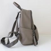 新款韓版 簡約休閑大容量牛皮雙肩包軟包女包 多隔層真皮背包
