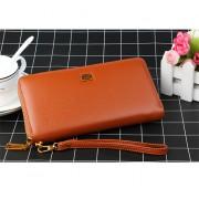 新款2018女士錢包日韓版簡約長款真皮拉鏈多卡位大容量手拿錢包包