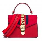 包包女新款手提包寬帶單肩斜跨磨砂復古小方包