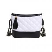 小香風包包女新款韓版女包菱格包雙鏈條流浪包單肩斜跨pu女包