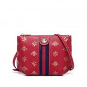 包包女新款斜挎包歐美時尚百搭女包潮流印花信封包