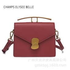 包包女新款斜挎包情書包金屬手柄手提包時尚單肩女包