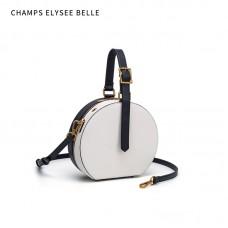 包包女年新款LV同款半圓包黑白撞色手提單肩斜挎女包